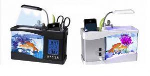 Bể cá trang trí phong thủy mini sử dụng nguồn USB
