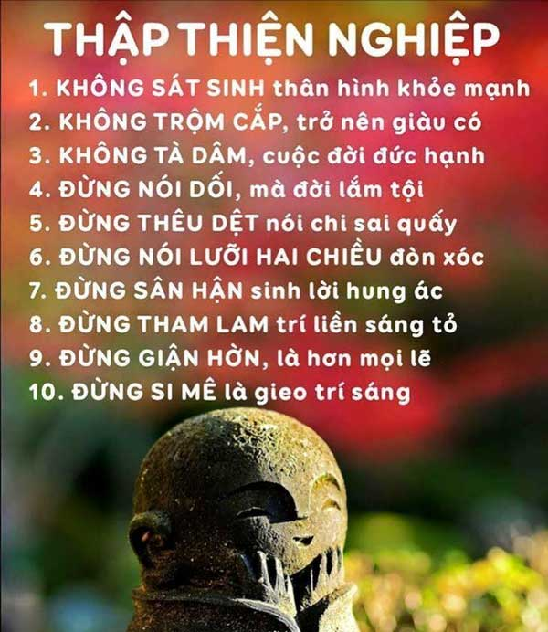 Thập thiện nghiệp của Phật gia