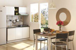 Mang ánh sáng tự nhiên tối đa vào bếp giúp không gian thông thoáng