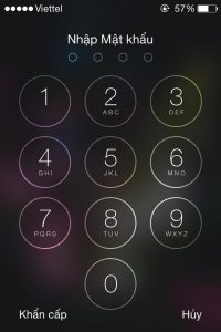 Không sử dụng mật khẩu cho điện thoại