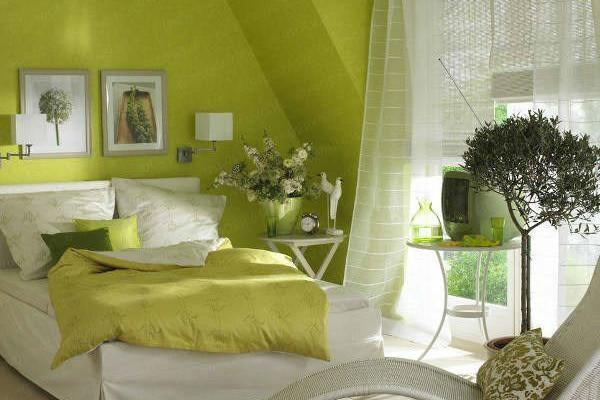 Màu xanh cho phòng ngủ dễ chịu