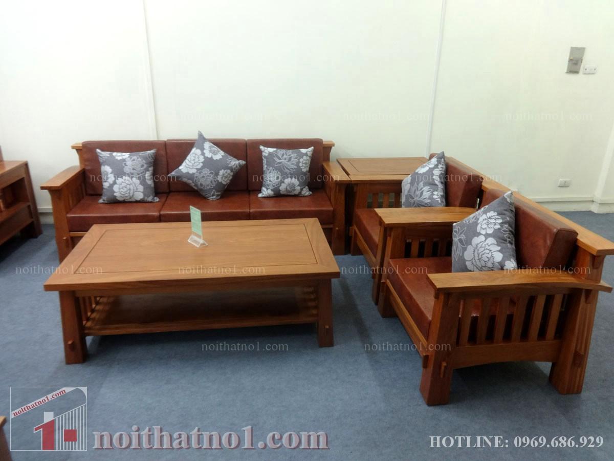 Mẫu bàn ghế gỗ nhà ống đẹp hiện đại