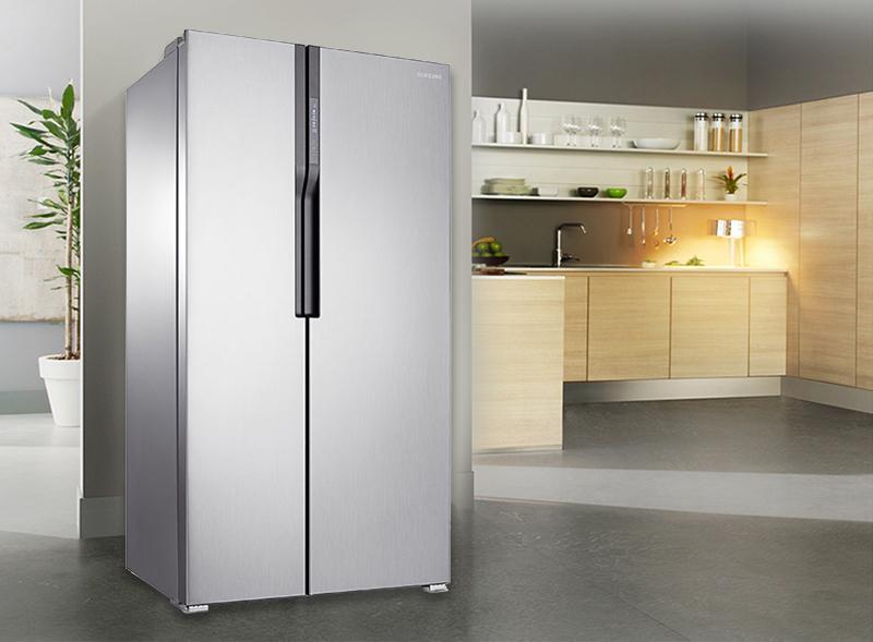Tủ lạnh samsung RS552NRUASLSV đem lại cho không gian nhà thêm sang trọng