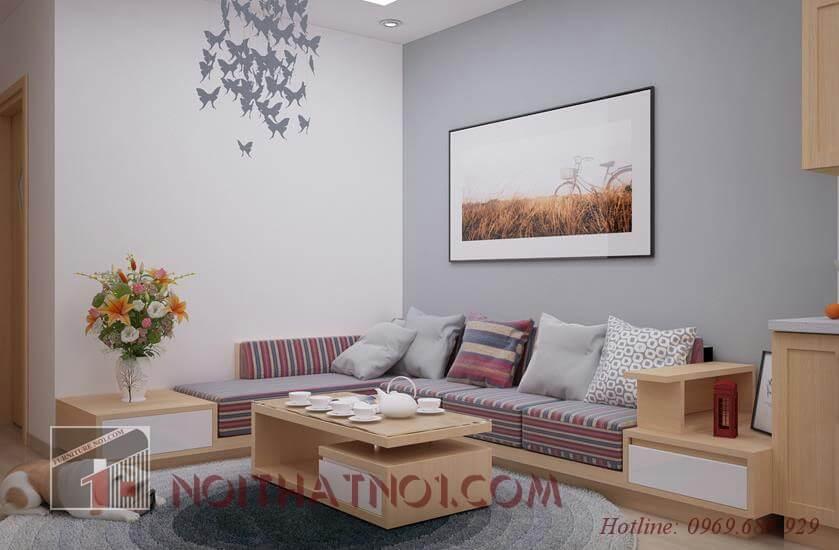 Sofa gỗ phòng khách hiện đại cao cấp nhất