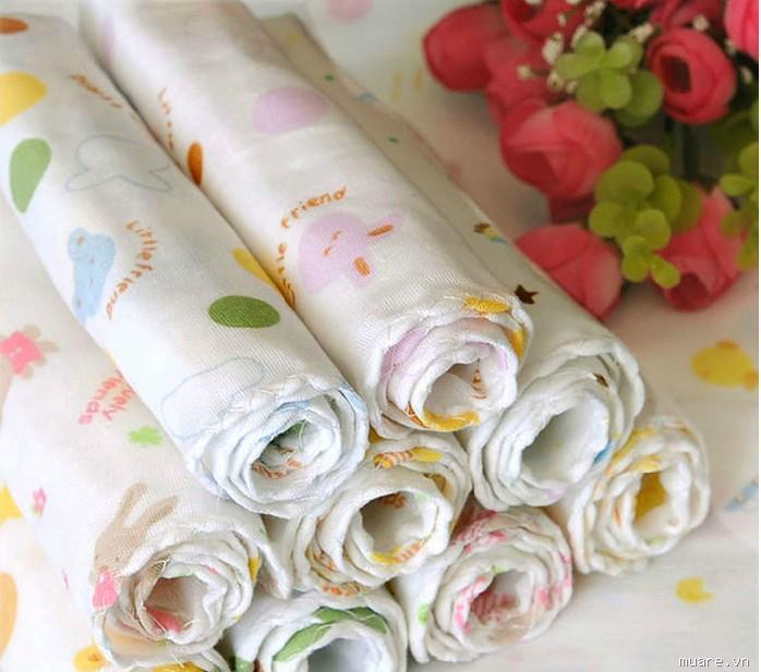 Chọn khăn tắm, khăn sữa an toàn cho trẻ