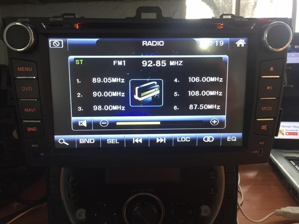Đầu DVD ô tô dọc được các loại file video như mpg, avi, mob