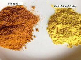 Phân biệt công dụng của tinh bột nghệ và bột nghệ đơn giản