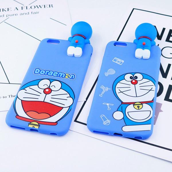 Ốp lưng Iphone 5 doremon lưng cứng viền dẻo có dây đeo