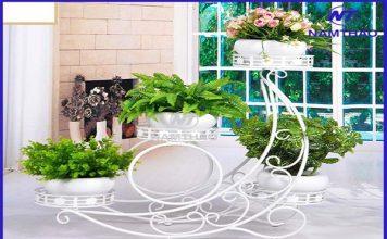Giỏ hoa sắt nghệ thuật đẹp, tinh tế với giá thành phải chăng